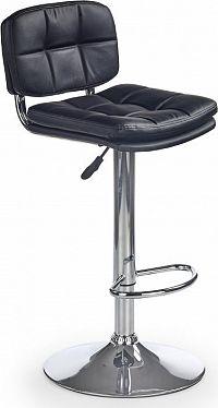 Halmar Barová židle H-75 černá
