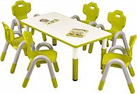 Halmar Dětský stoleček Simba obdélník - zelený