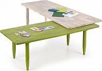 Halmar Konferenční stolek Bora-bora - zelená/přírodní