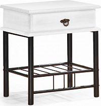 Halmar Noční stolek Fiona - bílý