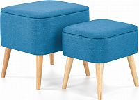 Halmar Taburety Pula set 2 kusů - modré