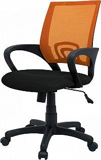 Idea Kancelářské křeslo TREND oranžové K91
