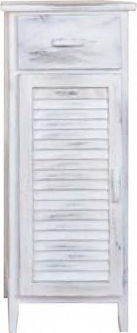 Idea Komoda 1 dveře + 1 zásuvka bílá antik