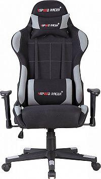 Idea Racing chair SPEED RACER šedý