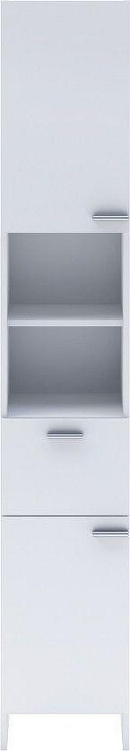 Idea Vysoká skříňka 2 dveře + 1 zásuvka KORAL bílá