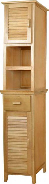 Idea Vysoká skříňka 2 dveře + 1 zásuvka lak