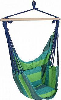 Idea Závěsné zahradní křeslo modré/zelené
