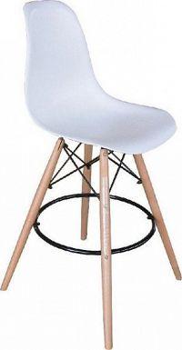 Tempo Kondela Barová židle CARBRY - bílá + kupón KONDELA10 na okamžitou slevu 10% (kupón uplatníte v košíku)