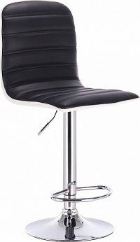 Tempo Kondela Barová židle, černá / bílá / chrom, Gerik + kupón KONDELA10 na okamžitou slevu 10% (kupón uplatníte v košíku)