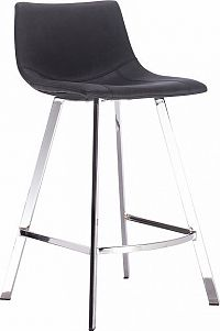 Tempo Kondela Barová židle, černá látka s efektem broušené kůže, Deron + kupón KONDELA10 na okamžitou slevu 10% (kupón uplatníte v košíku)