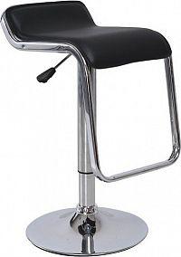 Tempo Kondela Barová židle ILANA - černá ekokůže / chrom, + kupón KONDELA10 na okamžitou slevu 10% (kupón uplatníte v košíku)