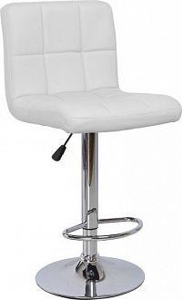 Tempo Kondela Barová židle KANDY - bílá ekokůže / chrom + kupón KONDELA10 na okamžitou slevu 10% (kupón uplatníte v košíku)