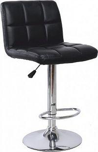 Tempo Kondela Barová židle KANDY - černá ekokůže / chrom + kupón KONDELA10 na okamžitou slevu 10% (kupón uplatníte v košíku)