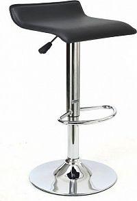 Tempo Kondela Barová židle LARIA - černá ekokůže / chrom