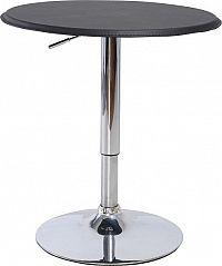 Tempo Kondela Barový stůl BRANY - chrom / černá + kupón KONDELA10 na okamžitou slevu 10% (kupón uplatníte v košíku)