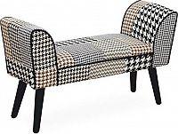 Tempo Kondela Designová lavice PEPITO NEW TYP 7 - látka patchwork + kupón KONDELA10 na okamžitou slevu 3% (kupón uplatníte v košíku)