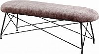 Tempo Kondela Designová lavice RIVOLA - hnědá látka/černý kov + kupón KONDELA10 na okamžitou slevu 3% (kupón uplatníte v košíku)