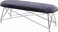Tempo Kondela Designová lavice RIVOLA - šedá látka / chromové nohy + kupón KONDELA10 na okamžitou slevu 3% (kupón uplatníte v košíku)