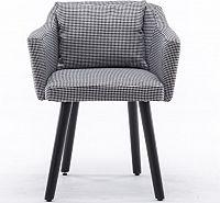 Tempo Kondela Designové křeslo DIPSY - černá/bíla vzor + kupón KONDELA10 na okamžitou slevu 10% (kupón uplatníte v košíku)
