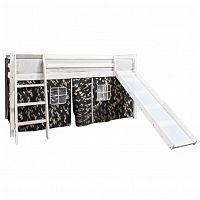 Tempo Kondela Dětská postel se skluzavkou VERDI - borovicové dřevo/bílá + kupón KONDELA10 na okamžitou slevu 3% (kupón uplatníte v košíku)