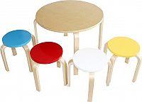 Tempo Kondela Dětský set 1 + 4 SIGRID - březové dřevo, mix barev + kupón KONDELA10 na okamžitou slevu 10% (kupón uplatníte v košíku)