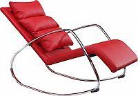 Tempo Kondela Houpací křeslo DORA - rudá ekokůže + kupón KONDELA10 na okamžitou slevu 10% (kupón uplatníte v košíku)