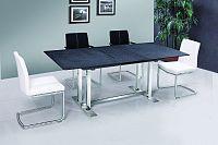 Tempo Kondela Jídelní stůl BENDER - kámen / ocel + kupón KONDELA10 na okamžitou slevu 10% (kupón uplatníte v košíku)