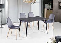 Tempo Kondela Jídelní stůl, MDF / černá, KABOR + kupón KONDELA10 na okamžitou slevu 10% (kupón uplatníte v košíku)