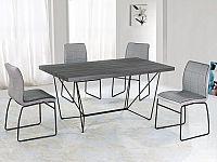 Tempo Kondela Jídelní stůl PALMER - šedá / černá + kupón KONDELA10 na okamžitou slevu 10% (kupón uplatníte v košíku)