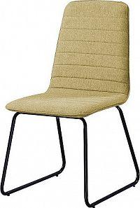 Tempo Kondela Jídelní židle DANUTA - zelenožlutá látka
