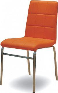 Tempo Kondela Jídelní židle DOROTY NEW - oranžová + kupón KONDELA10 na okamžitou slevu 10% (kupón uplatníte v košíku)