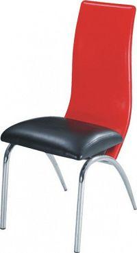 Tempo Kondela Jídelní židle DOUBLE - černá/červená