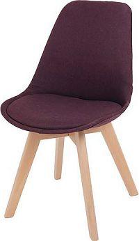 Tempo Kondela Jídelní židle LORITA, fialová / buk + kupón KONDELA10 na okamžitou slevu 10% (kupón uplatníte v košíku)