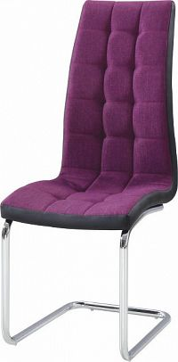 Tempo Kondela Jídelní židle SALOMA NEW - fialová / černá / chrom + kupón KONDELA10 na okamžitou slevu 10% (kupón uplatníte v košíku)
