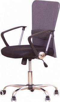 Tempo Kondela Kancelářská židle AEX - šedá + kupón KONDELA10 na okamžitou slevu 10% (kupón uplatníte v košíku)