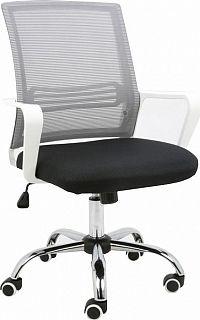 Tempo Kondela Kancelářská židle APOLO - síťovina  / látka  / plast bílý + kupón KONDELA10 na okamžitou slevu 3% (kupón uplatníte v košíku)