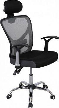 Tempo Kondela Kancelářská židle GRISEL - síťka černá / šedá + kupón KONDELA10 na okamžitou slevu 10% (kupón uplatníte v košíku)