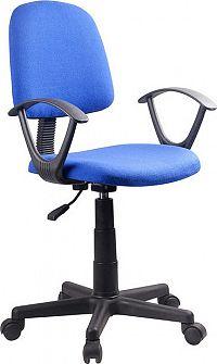 Tempo Kondela Kancelářská židle TAMSON - modrá / černá + kupón KONDELA10 na okamžitou slevu 3% (kupón uplatníte v košíku)