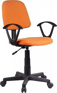 Tempo Kondela Kancelářská židle TAMSON - oranžová / černá + kupón KONDELA10 na okamžitou slevu 3% (kupón uplatníte v košíku)