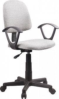 Tempo Kondela Kancelářská židle TAMSON - šedá / černá + kupón KONDELA10 na okamžitou slevu 3% (kupón uplatníte v košíku)