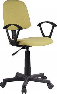 Tempo Kondela Kancelářská židle TAMSON - zelená / černá + kupón KONDELA10 na okamžitou slevu 3% (kupón uplatníte v košíku)