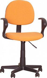 Tempo Kondela Kancelářská židle TC3-227 - oranžová + kupón KONDELA10 na okamžitou slevu 10% (kupón uplatníte v košíku)