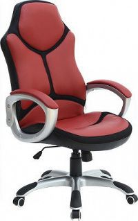 Tempo Kondela Kancelářské křeslo ARETAS NEW - červená/ černá ekokůže + kupón KONDELA10 na okamžitou slevu 10% (kupón uplatníte v košíku)