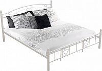 Tempo Kondela Kovová postel BRITA s lamelovým roštem  - bílá + kupón KONDELA10 na okamžitou slevu 10% (kupón uplatníte v košíku)