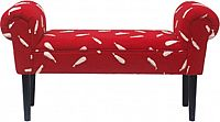 Tempo Kondela Lavice BURDA - červená / vzor / černá + kupón KONDELA10 na okamžitou slevu 3% (kupón uplatníte v košíku)