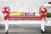 Tempo Kondela Lavice, vzor červený / bílé nohy, CHARADE + kupón KONDELA10 na okamžitou slevu 10% (kupón uplatníte v košíku)