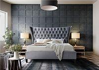 Tempo Kondela Manželská postel ALESIA  - šedá / wenge + kupón KONDELA10 na okamžitou slevu 10% (kupón uplatníte v košíku)