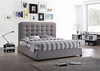 Tempo Kondela Manželská postel EVENT,  - šedá + kupón KONDELA10 na okamžitou slevu 10% (kupón uplatníte v košíku)