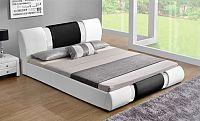 Tempo Kondela Moderní postel LUXOR, 180x200 - bílá / černá + kupón KONDELA10 na okamžitou slevu 10% (kupón uplatníte v košíku)