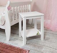 Tempo Kondela Noční stolek, masív / bílá, FOSIL